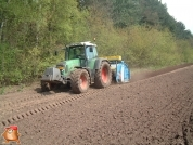 Fendt 818 met Imants spitmachine